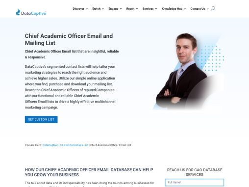 Chief Academic Officer Email List | Chief Academic Officer Mailing Database
