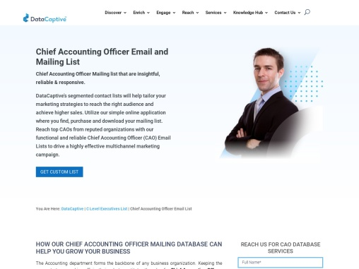 Chief Accounting Officer Email List | Chief Accounting Officer DataSet