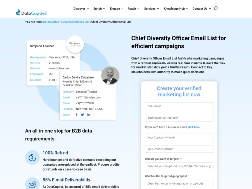 Chief Diversity Officer Email List | C Level Mailing Database