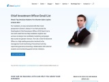 Chief Investment Officer Email List | CIO Mailing Database