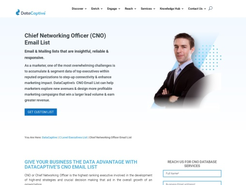 Chief Networking Officer Email List | C Level B2B Contact Database