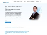 Chief Process Officer Email List | CPO Mailing Database | B2B Leads