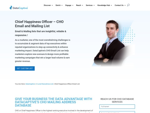CHO Email and Mailing List | Chief Happiness Officer Database