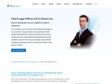 C Level Email List | Chief Legal Officers Mailing Address Database