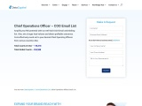 COO Email List | COO Mailing Address | COO Contact Database