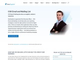 CSO Email List | Chief Security Officer Mailing Address Database