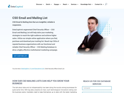 Accurate CSO Email List | Chief Security Officer Mailing Database