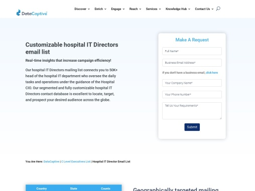 Hospital IT Director Email List | Healthcare Mailing Database
