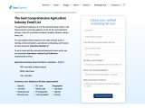 Agriculture Industry Email List | Agriculture Industries Mailing Database