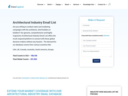Architectural Industry Email List | Architectural Company Mailing Database