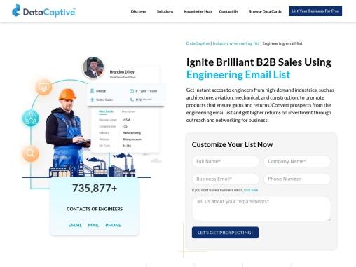 Engineering Email List | Engineering Industry Mailing Database