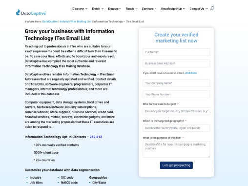 Information Email List | Business Contact Database