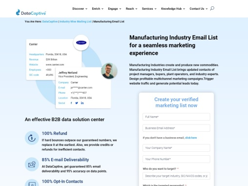 Manufacturing industry Email List | Manufacturing Companies List
