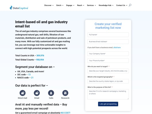 Oil and Gas Industry Email List   Oil and Gas Industries Mailing Database