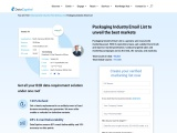 Packaging Industry Email List | Packaging Company Mailing Database