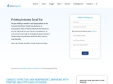 Printing Industry Email List   Printing Company Mailing Database