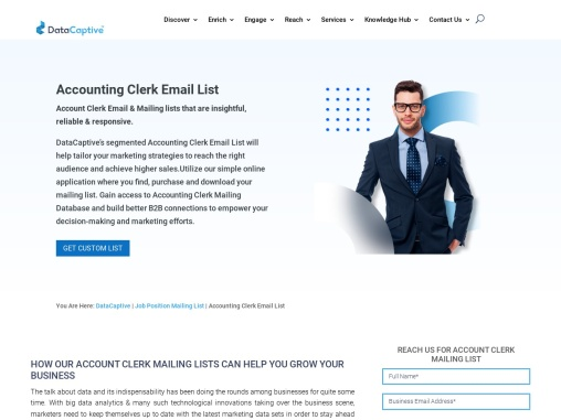 Accounting Clerk Email list | Accounting Clerk Mailing Database