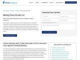 Billing Clerk Email List | Billing Clerk Mailing Address Database