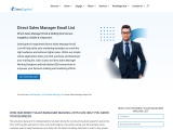 Direct Sales Manager Email List | Direct Sales Manager Mailing Database