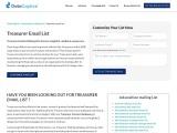 Treasurer Email List | Treasurer Mailing Database | DataCaptive