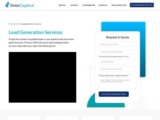 B2b Lead Generation Services | Sales Lead Services