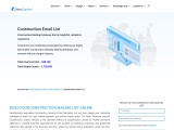 Construction Email List | Construction Industry Business Database