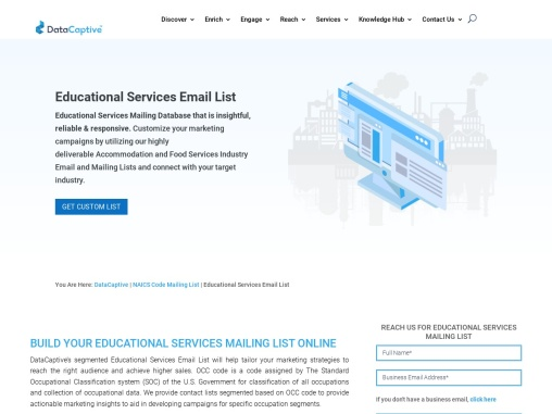 Educational Services Email List   Educational Industry Mailing Database