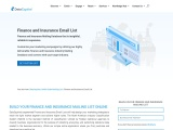 Finance and Insurance Email List | Finance and Insurance Industry Database