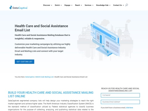 Health Care and Social Assistance Email List