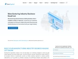 Manufacturing Industry Business List | Manufacturing Email Database