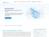Mining Email List | Mining Mailing Database | Mining Contact Leads