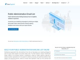 Public Administration Email List | Public Administrator Industry Database