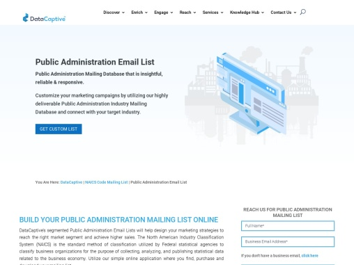 Public Administration Email List | Data Leads Companies