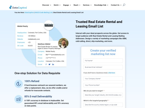 Real Estate Rental and Leasing Email List
