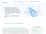 Wholesale Trade Email List | Wholesale Industry Database | NAICS – 42