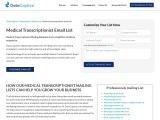 Medical Transcriptionist Email List | Transcriptionists Mailing Database