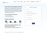 Psychologists Email List | Psychologist Mailing Database