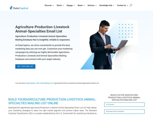 Agriculture-Production-Livestock and Animal-Specialties Email List