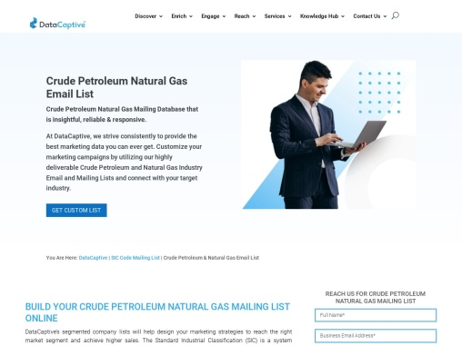 petroleum and coal industry email list | Crude Petroleum Natural Gas Email List | SIC Code 1311 Data