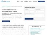 General Buildings Contractors – NonResidential Buildings Email List