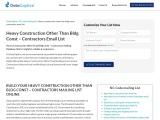 heavy construction contractors email list