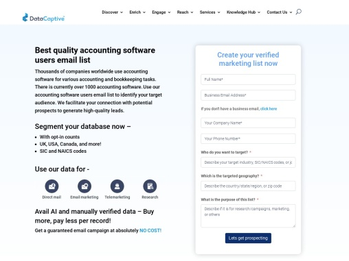Accounting Software Users Email List   Accounting Software Mailing Database