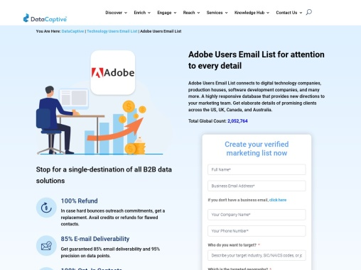 Adobe Users Email List | B2B Mailing Address Database