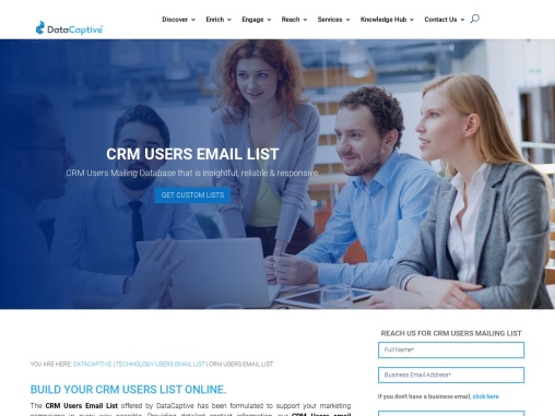 CRM Users Email List | CRM Users Mailing Database | CRM Leads