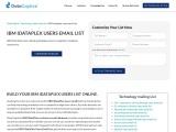 IBM iDataPlex Users Email List | Customers Mailing Address Database