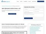 IBM QRadar Users Email List | IBM QRadar User Address| UK