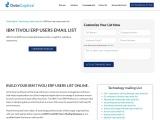 IBM Tivoli ERP Users Mailing Database| IBM Tivoli Marketing Leads| USA