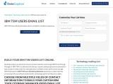 IBM TSM Users Manager Mailing Database Providers |USA