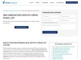 IBM UrbanCode Deploy Users Mailing Database Providers |USA