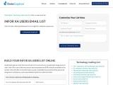 Infor XA Users Email List | Infor XA Customers Mailing Database